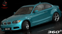 bmw 135i coupe 2008 3d model