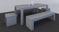 3d model outdoor furniture