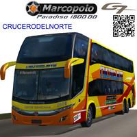 3d max marcopolo bus crucerodelnorte