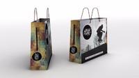 3d model bag shopping paper