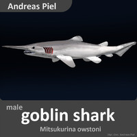 realistic male goblin shark 3d 3ds