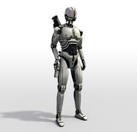 3d max robot sci fi