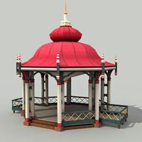3d model of gazebo -