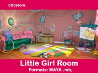 room girl 3d model