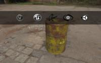 3d model barrel biohazard