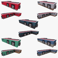 3d realistic warehouse pack model