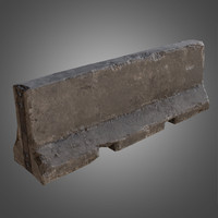 concrete barrier - pbr obj