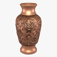 3d model antique vase