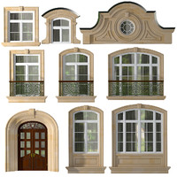 doors windows style modern 3d model