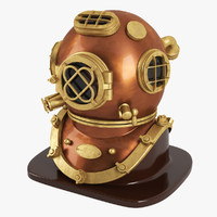 3d model helmet diver v