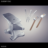 blacksmith tools 3d obj