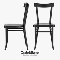3d model of realistic cole wood dining chair