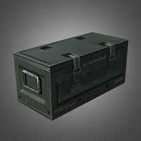 3d model of military supply crate -