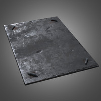 metal ground plate - 3d model