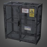 gas cylinder cage - obj