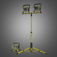 portable construction light set obj