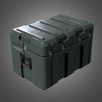 military weapons crate 2 3d model