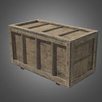 3d model wooden crate 2 -