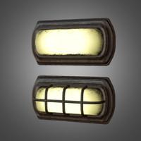 3d model cage fixture light -