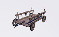 3d transport wagon model