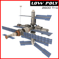 mir space station 3d max