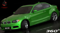 3d model bmw 135i coupe interior