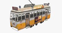 3d model old tram seville s