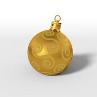 3d christmas bauble model