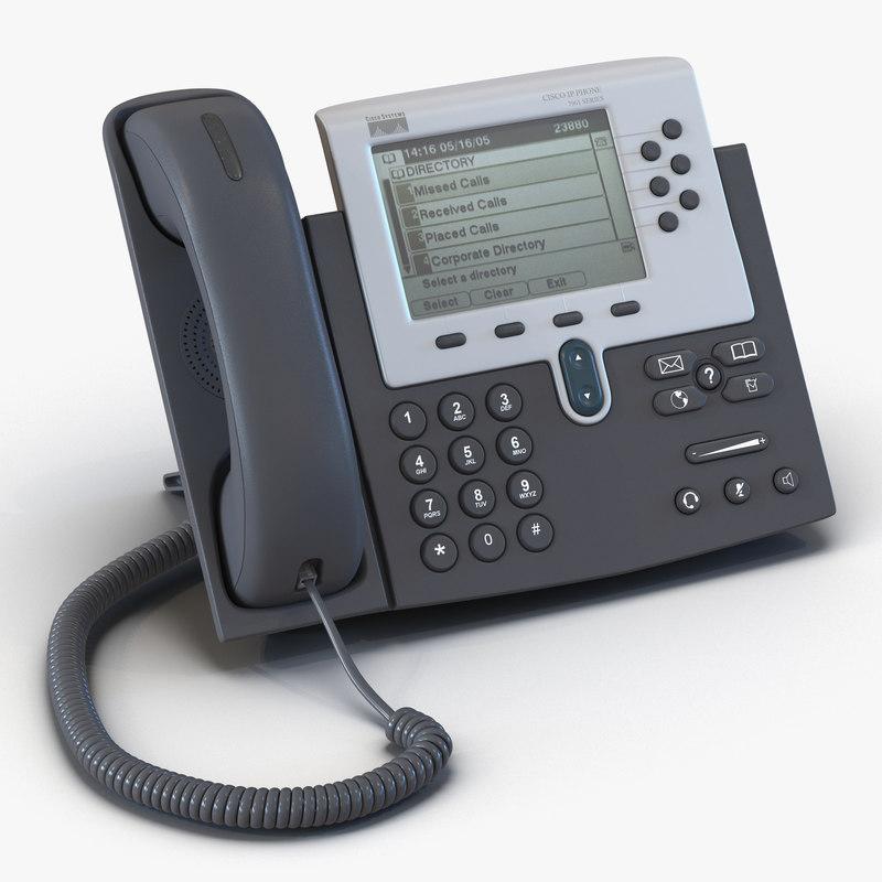 Cisco Unified IP Phone 7961G 3d model 01.jpg