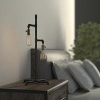 3d industrial pipe lamp
