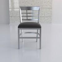 window plane metal chair 3d model
