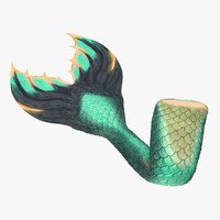 mermaid tail 01 sitting 3d max