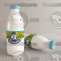 3d model of bottle milk white