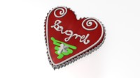 licitar s heart engraving 3d model