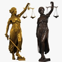 lady justice 3d max