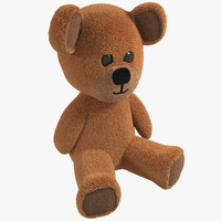 3d model of toy teddy bear