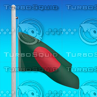 3d flag bangladesh - loop model