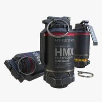 grenade elysium 3d model