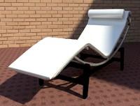 Le Corbusier Chaise Longe Revit 2016 3D RFA Family