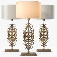 3d model table lamp bronze