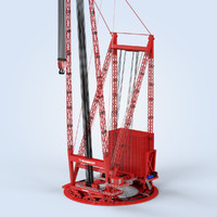 super heavy llift crane 3d model