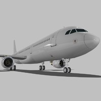 3d sharkleted a321neo a321 model