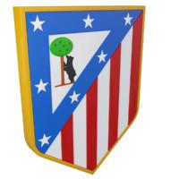 3d atletico madrid logo