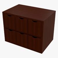 cabinet dae box 3d model