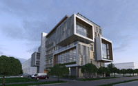 office building exterior c4d