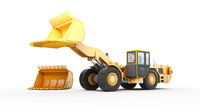 3d underground loader heavy vehicle model
