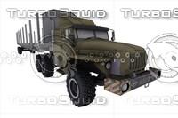 3d ural 4320-31 semitrailer model