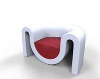 futuristic sofa 3d fbx