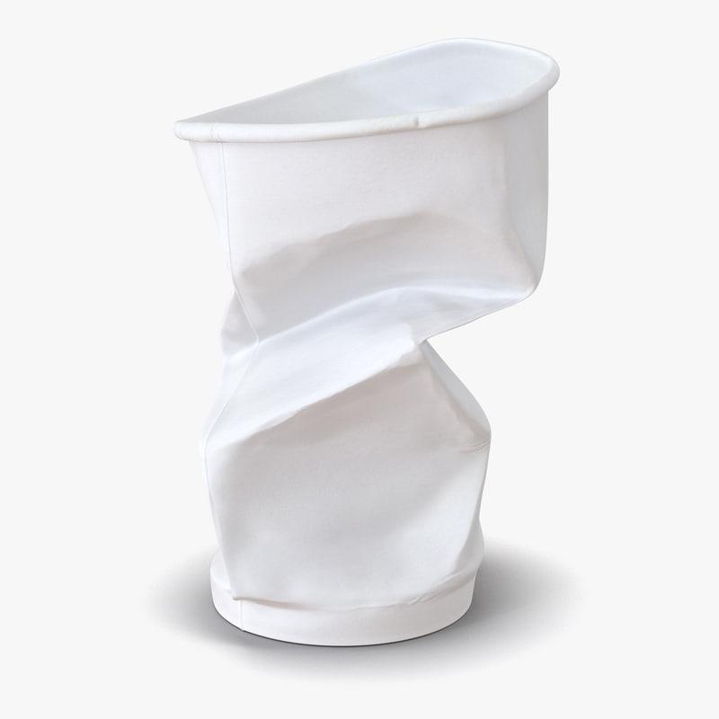 Crumpled Drink Cup obj 3d model 01.jpg