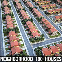 heighborhood 180 houses 3d 3ds